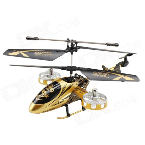 4-Channel Shatterproof R/C Helicopter w/ Gyro - Golden цена