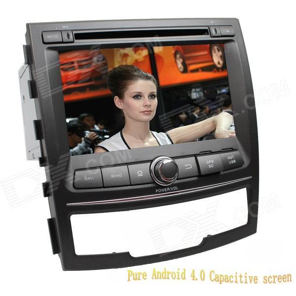 LsqSTAR 7 Capacitive Screen Android 4.0 Car DVD w/ GPS Radio BT WiFi SWC AUX for SsangYong Korando joyous 1 6g dual core android 4 2 capacitive screen car dvd w radio gps rds bt wifi 3g