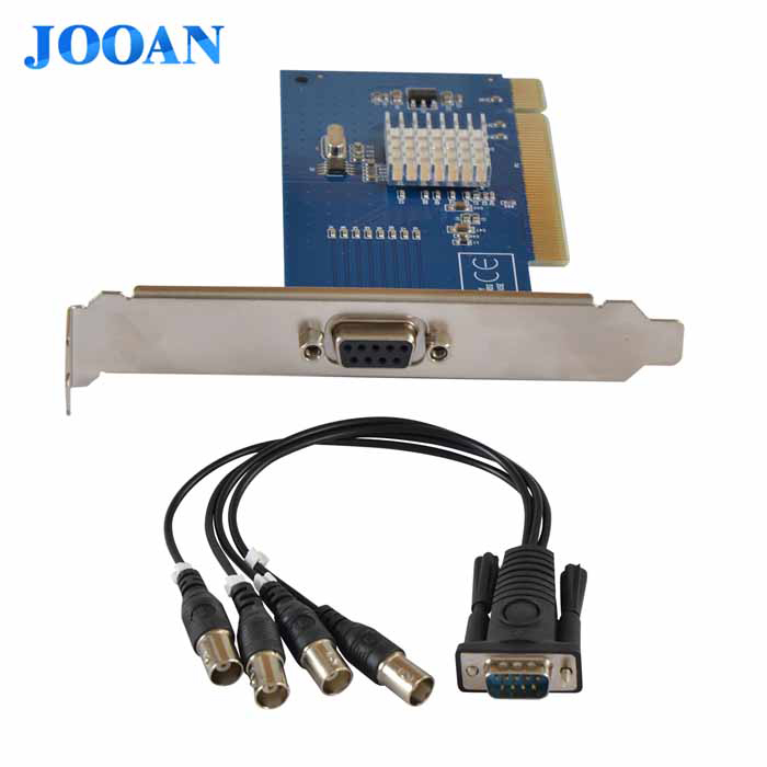 JOOAN JA-MV804A 4-CH D1 DVR Video Capture Card w/ BNC / PCI Slot - Deep Blue