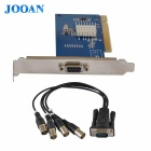 JOOAN JA-MV804A 4-CH D1 DVR Video Capture Card w / BNC / PCI-Slot - Deep Blue
