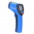 "IR-802 1.2"" LED Mini Wireless Handheld Infrared Laser Thermometer - Black + Blue (1 x 9V)"