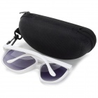 Stylish Dual Bridge UV400 Protection PC Frame PC Lens Sunglasses for Men & Women - White + Grey