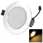 HUGEWIN HTD685S 3W 220LM 3000K 6-5730 SMD LED Warm White Light Ceiling Lamp - Silver (AC 85~265V)