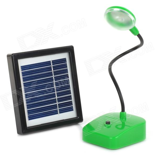 Miniisw LAMP-01 1W 5V Solar Powered LED Desk Lamp - Black + Green