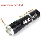 ZHISHUNJIA B26 80lm 6500K LED White Light Telescopic Zooming Flashlight - Black (1 x 14500)