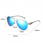 Reedoon Women's Fashionable PC Frame Resin Lens UV400 Protection Sunglasses - Silver