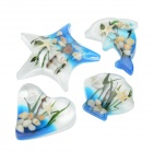 Sea World Acrylic Refrigerator Magnetic Sticker - Blue + White (4 PCS)