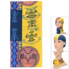 Fashionable Four Seasons Polyester Outdoor Sports Head Scarf - Yellow + Brown + Multi-Colored