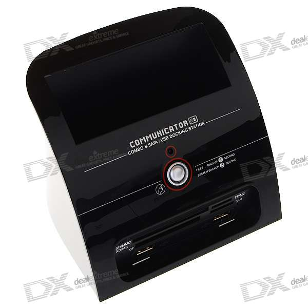 "Communicator C2 Combo HDD Docking Station with One Touch Backup for 2.5""/3.5"" SATA HDD"