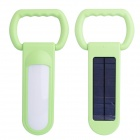 Multifunctional 1200lm White Light Solar Lamp Power Bank for Outdoor Camping - Green