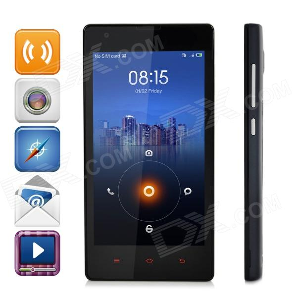 XiaoMi Redmi 1S Android 4.3 Quad-core WCDMA Bar Phone w/ 4.7 Screen, Wi-Fi and GPS - Black + Grey