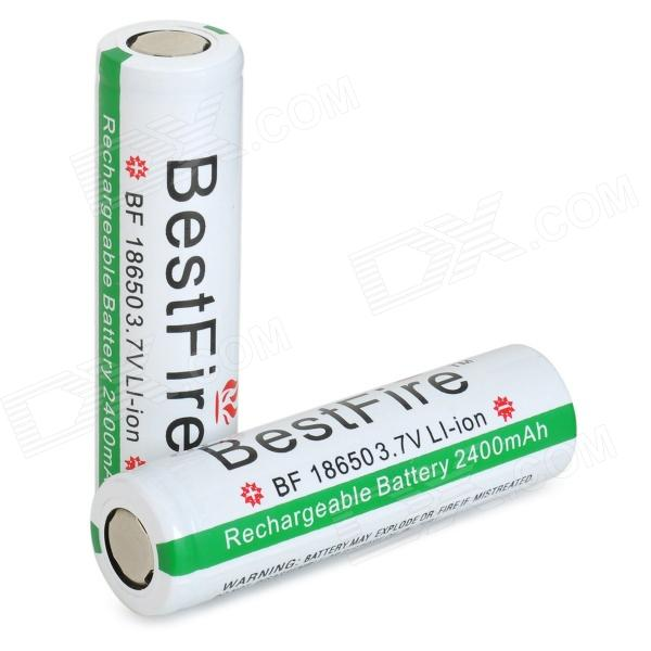 BestFire 3.7V 2400mAh Rechargeable Li-ion Battery - White + Reed Green + Multi-Colored (2 PCS)