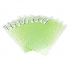 "Universal Screen Protector for 4.7"" / 5.0"" / 5.3"" / 6.0"" Cellphone - Transparent + Green (10 PCS)"
