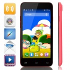 "Mpie MINI 809T MTK6582 Quad-Core Android 4.4.2 WCDMA Bar Phone w/ 4.5"", 4GB ROM, GPS - Red + Black"