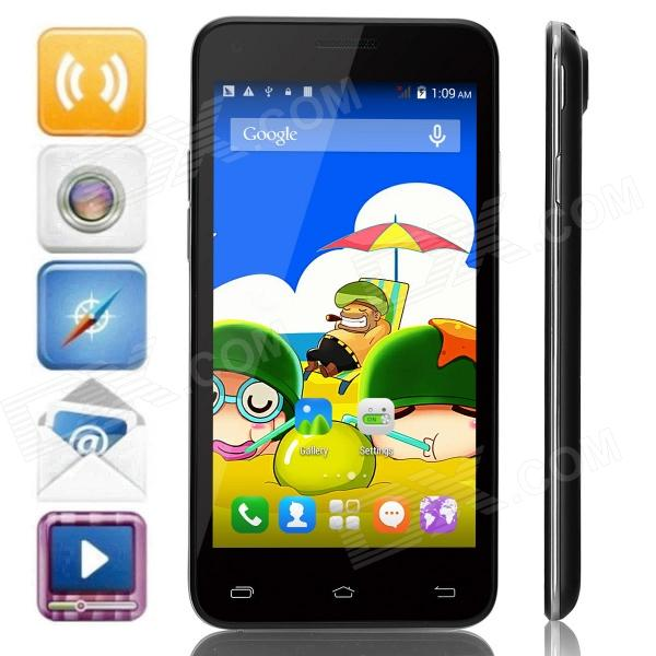 Mpie MINI 809T MTK6582 Quad-Core Android 4.4.2 WCDMA Bar Phone w/ 4.5, GPS - Black m pai 809t mtk6582 quad core android 4 3 wcdma bar phone w 5 0 hd 4gb rom gps black