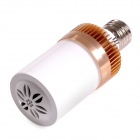 LM01 E27 4.5W 300lm Bluetooth V4.0 Speaker LED Warm White Light Lamp - White + Gold (AC 100~240V)