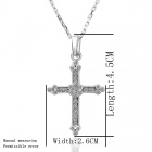Women's Fashionable Cross Shaped Tin Alloy Necklace - Silver