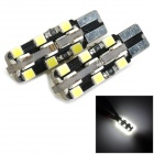T10-3528-24LED T10 4.8W 300lm 8000K 24-3528 SMD LED Cool White Light Lamp - Black + Yellow (12V)
