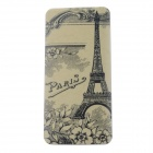 Eiffel Tower Pattern 13000mAh Dual USB Li-polymer Battery Power Bank - Yellow + Multi-Colored