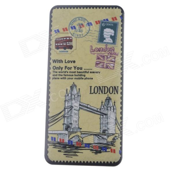 London Bridge Pattern 9000mAh Dual USB Mobile Li-polymer Battery Power Bank - Yellow + Multi-colored