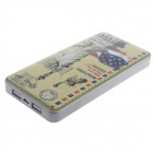 Statue of Liberty Pattern 9000mAh Dual USB Mobile Phone Li-polymer Battery Power Bank