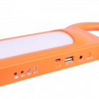 BSV-SL012 Multifunctional 12000lm White Light Solar Lamp Power Bank for Outdoor Camping - Orange