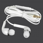 J5 3.5mm Jack In-Ear Earphone w/ Mic. for Samsung Galaxy S5 - White