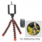Adjustable Mobile Phone Tripod Holder w/ Wireless Bluetooth Selfie Remote Control - Red (CR2032)