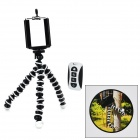 Adjustable Mobile Phone Tripod Holder w/ Wireless Bluetooth Selfie Remote Control - White (CR2032)
