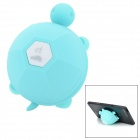 Tortoise Style Silicone Cable Winder Desk Suction Cup Stand for IPHONE / IPOD / IPAD - Blue