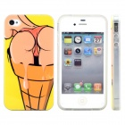 3D Sexy Ice Cream Protective Plastic Case for IPHONE 4 / 4S - Yellow + Orange