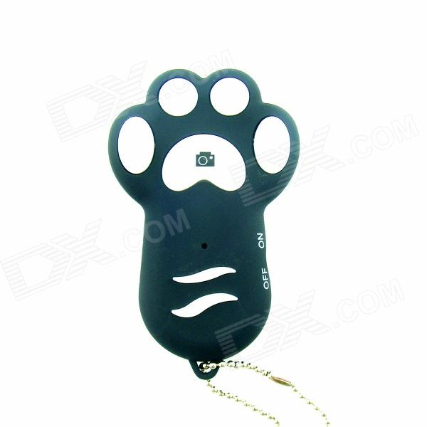 TY-102 Dog footprint Wireless Bluetooth V3.0 Remote Control Selfie Shutter for IPHONE + More - Black