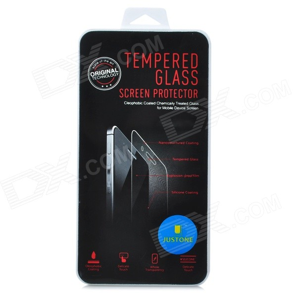 JUSTONE J061 Explosion-proof Tempered Glass Screen Protector for IPHONE 5 / 5C / 5S - Transparent protective tempered glass screen protector for iphone 5 5c 5s transparent