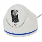 "KSJ J-609MA 1/4"" CMOS IR-LED Night Vision Video Camera Monitor - White"