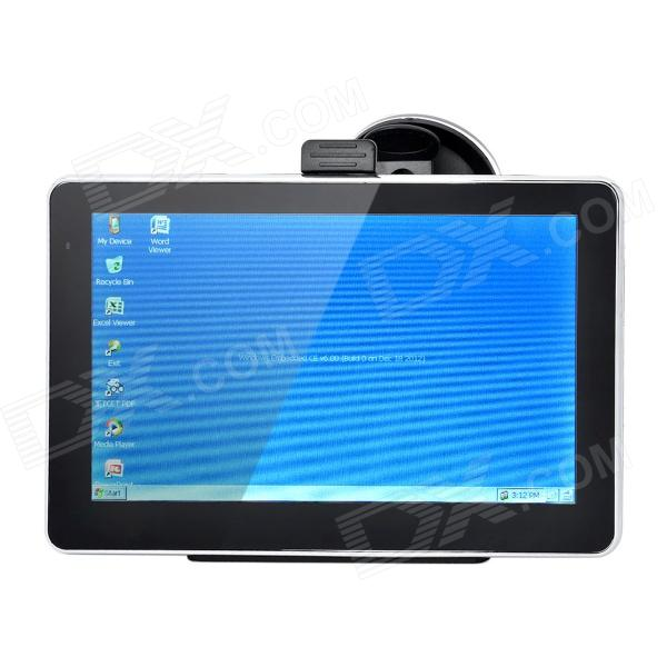 "7"" Resistive Car GPS Navigator with TF / FM / USA + Canada Maps / Loudspeaker / Microphone (4GB)"