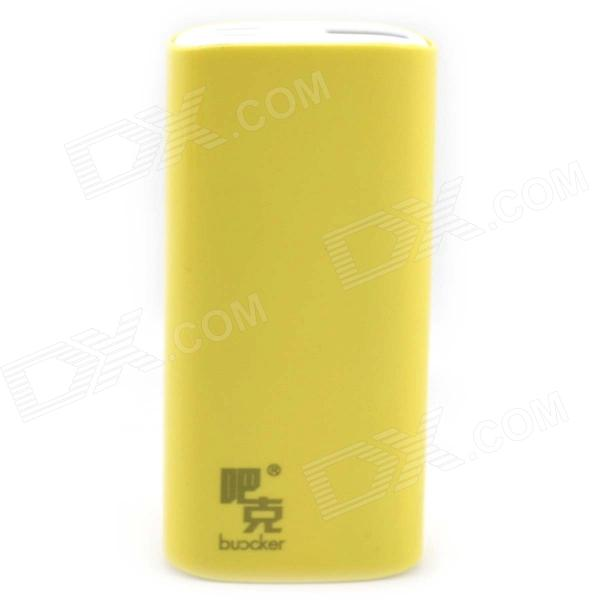 Buccker i9c Mobile External 5200mAh Li-ion Battery Power Bank for Tablet PC / Cell Phone - Yellow portable 6000mah power bank w flashlight for mobile tablet pc more pink white