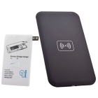 QI Wireless Charger Pad w/ Wireless Charger Receiver for Samsung Galaxy S5 - Black + White