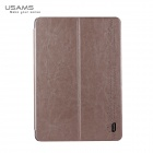 USAMS PU Leather + PC Case w/ Auto Sleep Cover for Samsung Galaxy Note Pro12.2 P900 - Champagne Gold