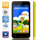 "Mpie MINI 809T MTK6582 Quad-Core Android 4.4.2 WCDMA Bar Phone w/ 4.5"", GPS - Yellow + Black"