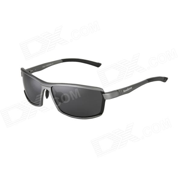 Reedoon 2207 Men's Polarized Resin Lens UV400 Protection Sunglasses - Grey reedoon 6488 men s fashionable resin lens uv400 protection polarized sunglasses silver grey