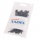 Funny Shoes Beautifier Silicone Rubber Shoe Lace - Black (12 PCS)