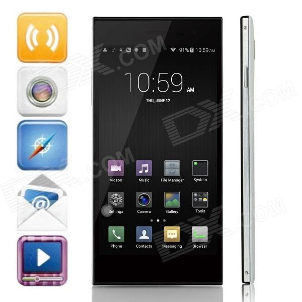 LEAGOO Lead1 Quad-Core Android 4.4.2 WCDMA Bar Phone w/ 5.5 HD, 8GB ROM and GPS - White + Black
