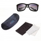 Reedoon 7643 Women's Fashionable PC Frame Resin Lens UV400 Protection Sunglasses - Black + Grey