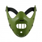 Hannibal Lecter Style Resin Mask - Green + Black