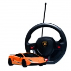 DongXin Lamborghini Charging Speed Drift Car w/ Steering Wheel Remote Control - Orange (1:18)
