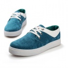 SNJ 99-669 Men's Fashionable Casual Suede Leather Shoes - Light Blue + White (Pair / EUR Size 42)