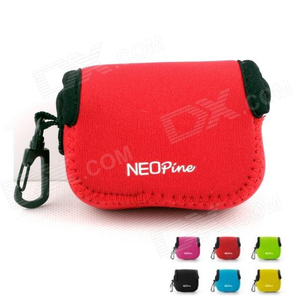 NEOpine Mini Protective Neoprene Camera Case Portable Bag for Gopro Hero 4/ 3+ / 3 / 2 / SJ4000 - Red