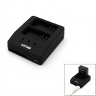 JUSTONE J059 3-In-1 USB Multifunction Dual-Slot Charger for GoPro Hero 3+ / 3 - Black