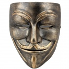 DH-018 Vendetta Anonymous Guy Fawkes Style Resin Mask - Bronze