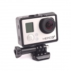 Fixed Frame w/ Arm for GoPro Hero 4 / 3 / 3+ - Black